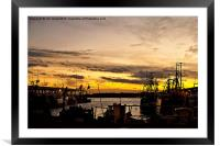 Dusk over the Fish Quay, Framed Mounted Print