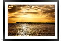 The old wooden pier, Framed Mounted Print