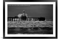 Storm in Black and White, Framed Mounted Print