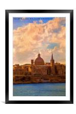 Artistic Valletta, Framed Mounted Print