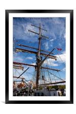 Getting her ship-shape, Framed Mounted Print