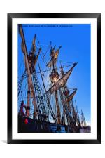 Artistic Tall Ship masts, Framed Mounted Print