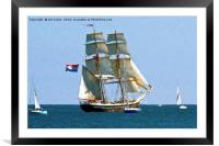 Artistic Tall Ship, Framed Mounted Print