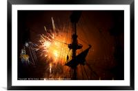 Fireworks and Tall Ships 2, Framed Mounted Print