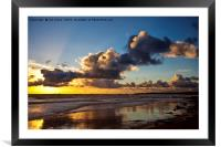 Northumbrian seascape, Framed Mounted Print