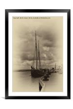 Antique Plate Tall Ship, Framed Mounted Print