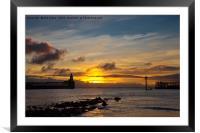 Daybreak in Northumberland 2, Framed Mounted Print