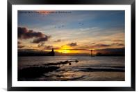 Daybreak in Northumberland 3, Framed Mounted Print