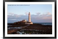 Sunrise at St Mary's Island, Framed Mounted Print