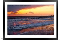 Early morning seascape, Framed Mounted Print