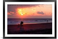 Dawn dog days, Framed Mounted Print