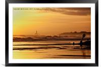 First Golden Light, Framed Mounted Print