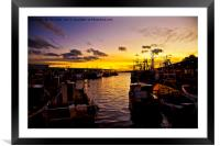 North Shields Fish Quay at Dusk., Framed Mounted Print