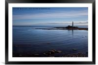 St Mary's blue, Framed Mounted Print