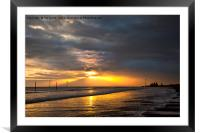 Dawn on the beach, Framed Mounted Print