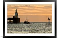 When the boat comes in, Framed Mounted Print