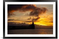 Fire in the morning sky, Framed Mounted Print