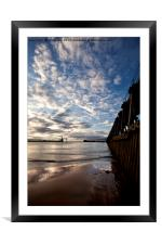 Early morning between the piers, Framed Mounted Print