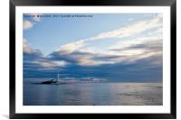 First Light at St Mary's Island, Framed Mounted Print