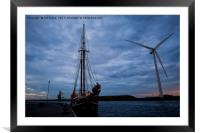Powered by Wind, Framed Mounted Print