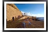 Short walk on a long pier, Framed Mounted Print