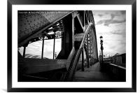 Newcastle in black and white, Framed Mounted Print