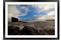 Stormy Collywell Bay, Framed Mounted Print
