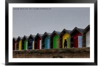 Beach Huts for hire - Heating optional, Framed Mounted Print