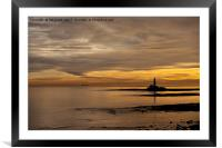 Golden dawn at St Mary's., Framed Mounted Print