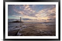 Winter dawn at St Mary's Island (3), Framed Mounted Print
