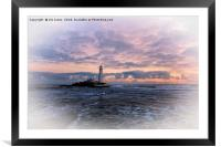 Artistic St Mary's Island, Framed Mounted Print