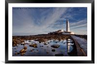 Winter Sunday morning at St Mary's Island, Framed Mounted Print