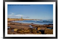 Tynemouth Long Sands, Framed Mounted Print
