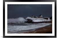 Seaton Sluice Storm, Framed Mounted Print
