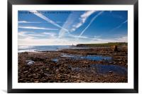 Collywell Bay at low tide, Framed Mounted Print