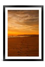 RE-LISTED Walking towards the Daybreak, Framed Mounted Print