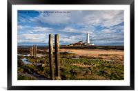 St Mary's in sunshine, Framed Mounted Print