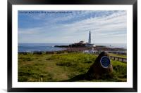 Cragg Point, St Mary's Island, Framed Mounted Print