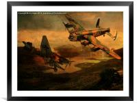 Close Call, Framed Mounted Print