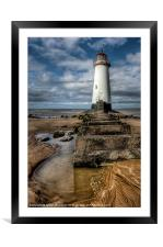 Lighthouse Steps, Framed Mounted Print