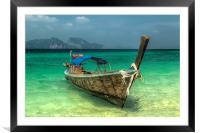 Thai Boat, Framed Mounted Print