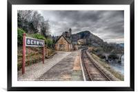 Berwyn Railway Station, Framed Mounted Print