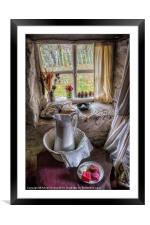 Victorian Wash Area, Framed Mounted Print