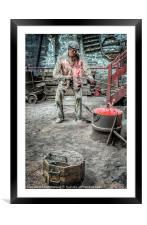 Iron and Brass Foundry, Framed Mounted Print
