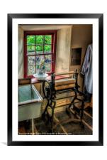 Victorian Wash Room, Framed Mounted Print