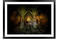 Abbey Sunlight, Framed Mounted Print