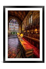 Cathedral Lamps, Framed Mounted Print