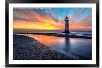Lighthouse Sunset, Framed Mounted Print