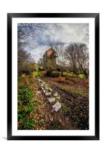 Pump House Way, Framed Mounted Print