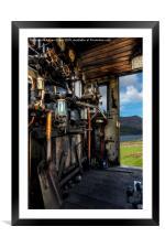 Steam Locomotive Footplate, Framed Mounted Print